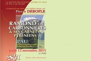 Conférence publique aux Archives Départementales à PAU le 12/11/2015 à 17h30