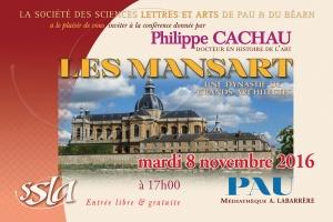 Conférence publique à l'auditorium de la médiathèque André Labarrère de Pau le mardi 8 novembre 2016 à 17h00 par Philippe CACHAU